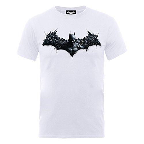 DC Comics - Arkham Origins Shield, T-shirt, manica corta da uomo, bianco(white), M