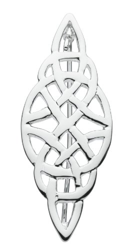 Heritage Silver Plated Celtic Knot Brooch SP82835HP009