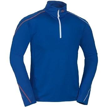 Men's Swerve Half Zip by Kjus in Victoria Blue / Golden Poppy / White - Size 54