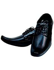 Kraasa 2013 Lace Up Shoes For Men (Material: Leather, Color: Black)