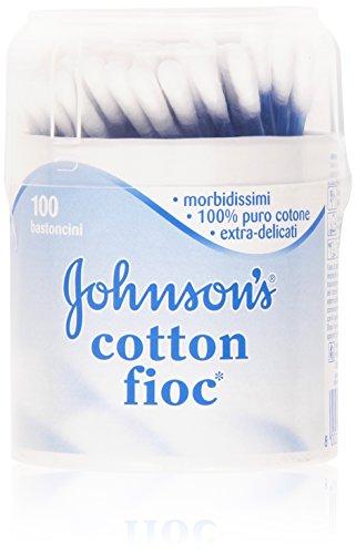Johnson's - Cotton fioc, Bastoncini morbidissimi, 100% puro cotone, extra-delicati - 100 pezzi