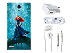 Spygen XIAOMI REDMI Note 4g Case Combo of Premium Quality Designer Printed 3D Lightweight Slim Matte Finish Hard Case Back Cover + Charger Adapter + High Speed Data Cable + Premium Quality Handfree