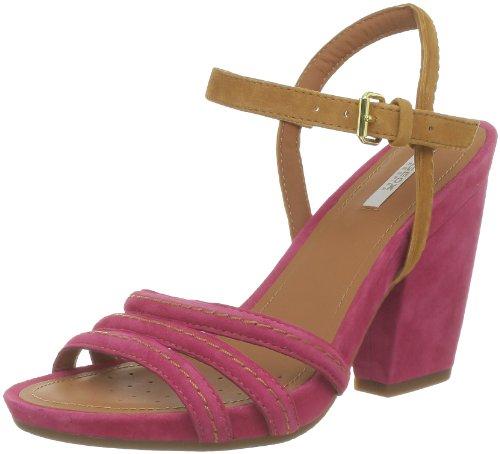 Geox D DIVINITY A D32R5A00021C8399, Sandali col tacco donna, Rosa (Pink (FUCHSIA/BISCUIT C8399)), 38
