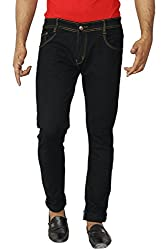 Aruze Men's Regular Fit Jeans (ARUMJ101-BLACK-34, Black, 34)