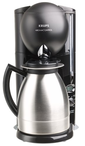 Krups 229-4G Aroma Control 10-Cup Coffeemaker with Thermal Carafe, Black and Brushed Stainless Steel, DISCONTINUED (Kru Coffee Maker compare prices)