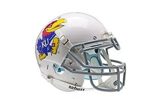 NCAA Kansas Jayhawks Authentic XP Football Helmet, White by Schutt
