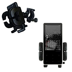 Bike Handlebar Holder Mount System for the Cowon iAudio 10 / i10 - Gomadic Brand