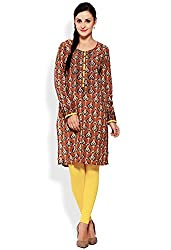 Aana Gold Leaf Aana Hand Block Printed Kurta-Large