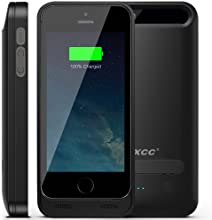 [Apple MFI Certified] iXCC ® 2400mAH External Protective Extended Battery Case with Built-in Kickstand for Apple iPhone 5 and iPhone 5s [Black] (Fits All Versions of iPhone 5 / 5S with Lightning Connector Output, MicroUSB Input) [100% Compatible with ALL IOS System (including IOS 7.0+), Strengthened MicroUSB Input Port for charging and sync, No Signal Reduction]