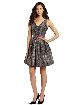 Taylor Dresses Women's Snake Skin Party Dress, Pink, 2