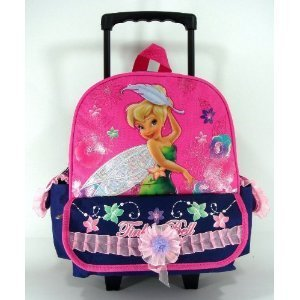 Tinkerbell Kids Large Rolling Luggage / Rolling Backpack - Beautiful luggage by Disney