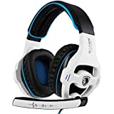 Xbox One Gaming Headset Stereo Over Ear Gaming Headset with Mic Noise Cancelling Volume Control for Xbox One/PC/Mac/PS4/Nintendo(White) ¡ (Color: White)