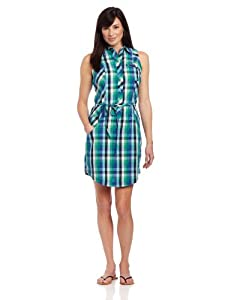 Columbia Women's Super Bonehead Sleeveless Dress, X-Small, Glaze Green/Large Multi Check