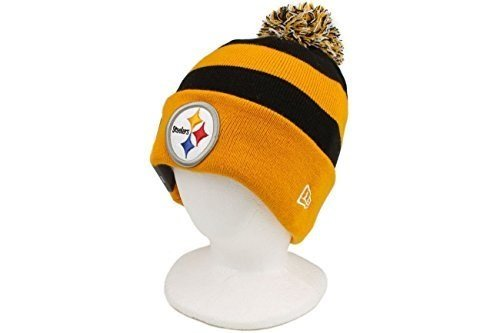 The New Era Pittsburgh Steelers NFL On Field Sport Knit Winter Hat Black/Gold Size One Size
