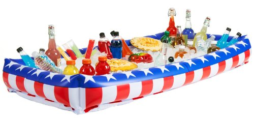 Patriotic Inflatable Buffet Cooler front-1030988