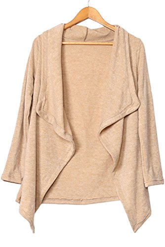 OUR WINGS Women Apricot Asymmetric Wrapped Women Sweater L