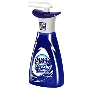 Dawn Direct Foam Dishwashing Foam, Fresh Rapids Scent, Case Pack, Ten - 13.5 Fluid Ounce Pump Bottles
