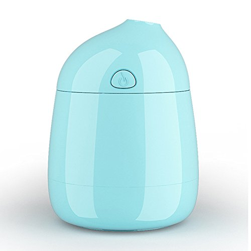 Jhua Mini USB Humidifier Personal Portable Travel Ultrasonic Cool Mist Water Humidifier USB Air Purifier Small Humidifier for Single Room/ Office/ Car/ Travel Gift Package (Blue) (Small Cute Humidifier compare prices)