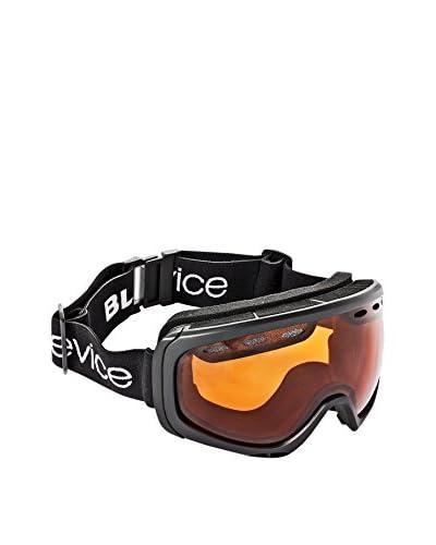 Black Crevice Máscara de Esquí Negro / Naranja Única