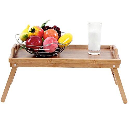 Songmics vassoio da letto in bamb colazione a letto tavolino tavolo 50 x 30 cm lld530 - Vassoio da letto amazon ...