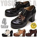 YOSUKE U.S.A ヨースケ 厚底 パンプス おでこ靴 ロリータ パンプス レースアップ パンプス 編み上げ パンプス