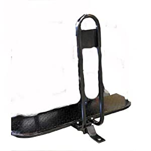 Rear Seat Trailer Hitch with Receiver and Grab Bar for Back of Golf Cart by Golf Cart King, LLC