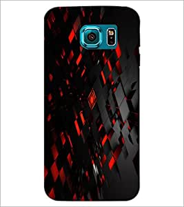 PrintDhaba Pattern D-2431 Back Case Cover for SAMSUNG GALAXY S6 EDGE (Multi-Coloured)