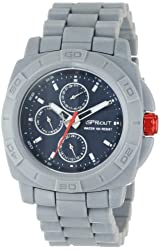 Sprout Men's ST/3803NVGY Multi-Function Bamboo Dial Grey Corn Resin Bracelet Watch