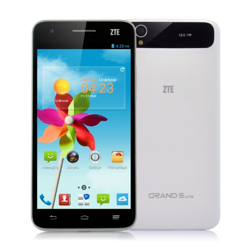ZTE Grand S Lite Smartphone – 5 Inch FHD 1920×1080 Gorilla Glass Screen, Android 4.2 OS, Quad Core 1.5GHz CPU