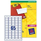 Avery J8651 Inkjet Mini Label Address 38.1x21.2 White Ref J8651-25 - Pack 1625by Avery