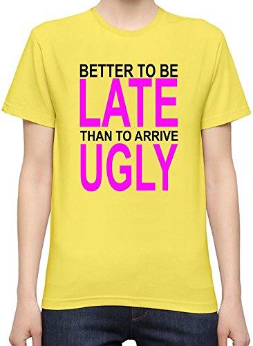 better-to-be-late-slogan-camiseta-mujeres-xx-large