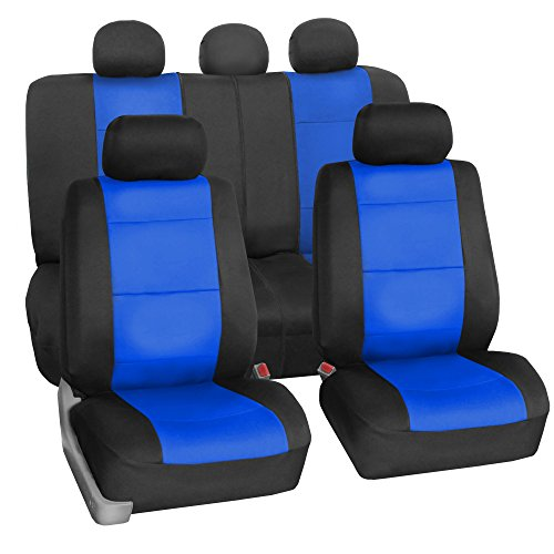 FH GROUP FH-FB083115 Neoprene Waterproof Car Seat Covers Airbag Ready & Rear Split Blue- Fit Most Car, Truck, Suv, or Van (Purple And Blue Car Seat Cover compare prices)