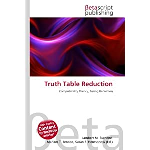 Truth Table Reduction: Amazon.de: Bcher