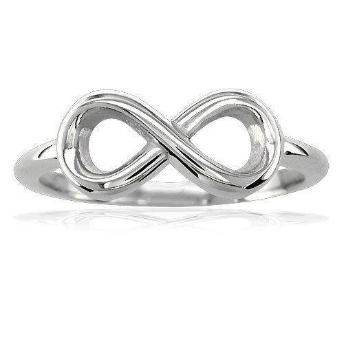 14k White Gold Infinity Ring