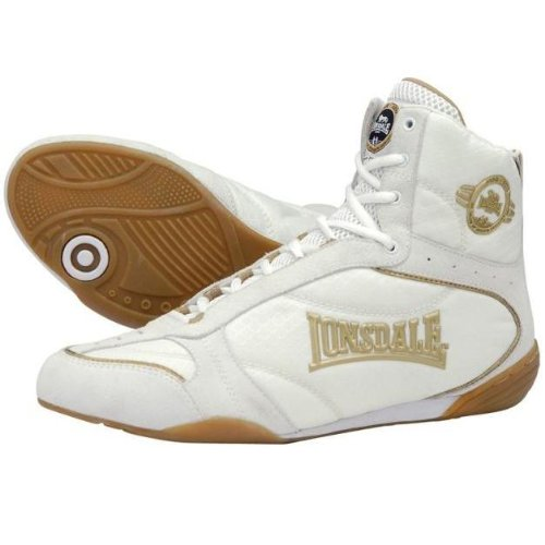 Lonsdale London Rapid Boxing Boots White/Gold