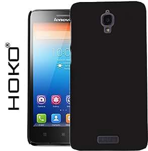 Lenovo S660 Case, HOKO® Ultra Thin Rubberized Matte Hard Case Back Cover for Lenovo S660 (Black)