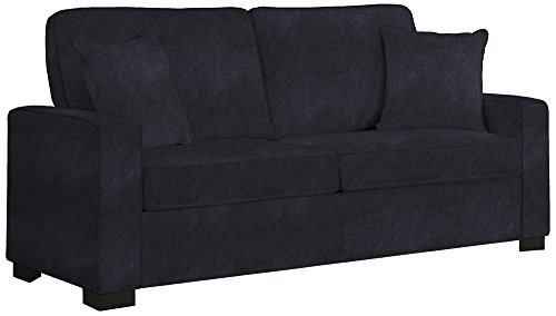 angelo:HOME Robbie Parisian Black River Sofa