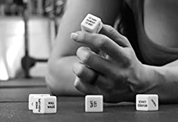 1 Swole DiceTM Set Of 6 Laser Printed 19mm Dice 46K Random Fitness Routines 5 No-Equipment, 1 Equipment Add Variety Spontaneity To Workout Gym Strength Training Weight Lifting Circuit Training Exercise