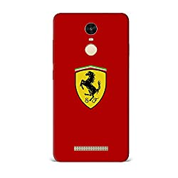 Xiaomi Redmi Note 3 Case [Hard Protective Cover] Printed Design-Ferrari Horse On Red Case