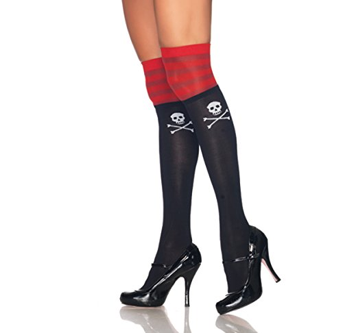 Pirate Skull Thigh Highs Sexy Pirate Costume Thigh Highs 6680