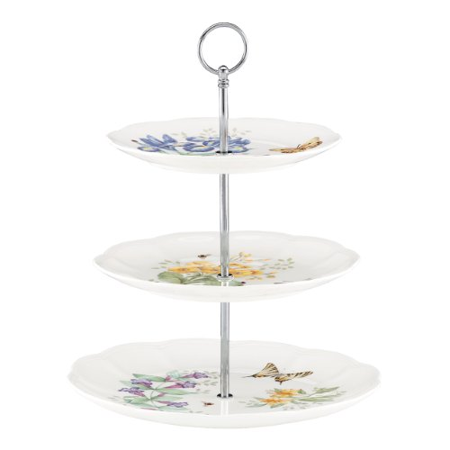 Lenox Butterfly Meadow 3-Tiered Server, White