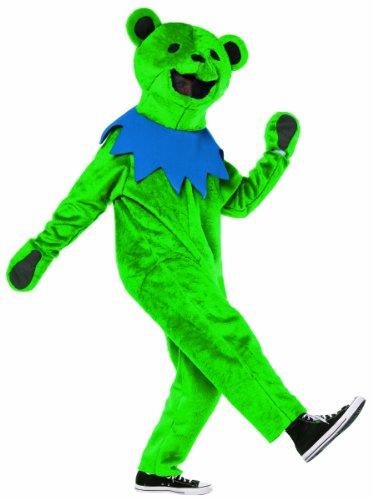 Rasta Imposta Grateful Dead Dancing Bear Costume, Green, Adult