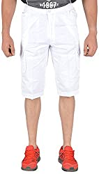 Okane Men's Cotton Capri (C-52825-B White _L, White, L)