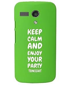 KolorEdge Back Cover For Motorola Moto G - Green (1015-Ke15074MotoGGreen3D)
