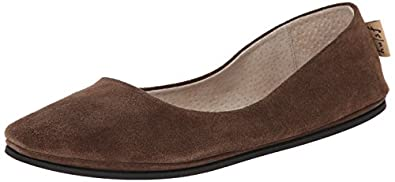 French Sole FS/NY Women's Sloop Flat,Chocolate Suede,6 M
