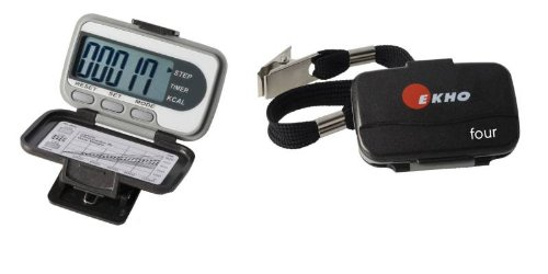 Cheap EKHO FOUR Digital Pedometer – Large Readout, Counts Steps, Calories, Distance and Speed (B0062TNTGU)
