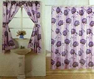 purple flower water repellent shower and