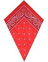 Bandana à motif cachemire Rouge
