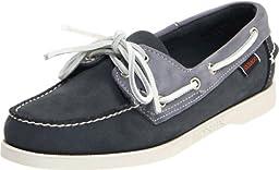 Sebago Women\'s Spinnaker Boat Shoe,Navy/Gray Nubuck,7 M US