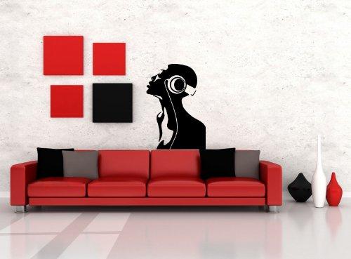 Wall Vinyl Sticker Decals Mural Design Relaxing Listening Music Dj Soul Headphones 769